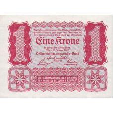 Itävalta 1922 1 Krone P73 AUNC