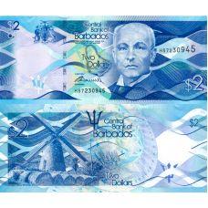Barbados 2013 2 Dollars P73a UNC