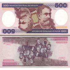 Brasilia 1981-1985 500 Cruzeiros P200b UNC