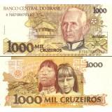Brasilia 1991 1000 Cruzeiros P231c UNC