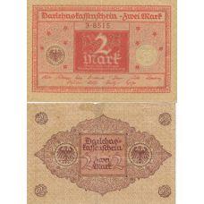 Saksa 1920 2 Mark P59 UNC