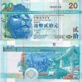 Hong Kong 2009 20 Dollar HSBC P207f UNC