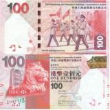 Hong Kong 2012 100 Dollars HSBC P214 UNC