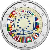 Italia 2015 2 € EU:n lippu 30v VÄRITETTY