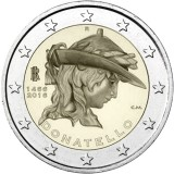 Italia 2016 2 € Donatellon kuoleman 550. vuosipäivä UNC