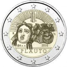Italia 2016 2 € Titus Maccius Plautuksen kuoleman 2 200. vuosipäivä UNC
