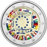 Itävalta 2015 2 € EU:n lippu 30v VÄRITETTY