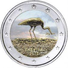 Latvia 2015 2 € Haikara VÄRITETTY