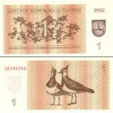 Liettua 1992 1 Talonas P39 UNC