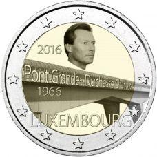 Luxemburg 2016 2 € Suurherttuatar Charlotte -sillan 50. vuotispäivä UNC