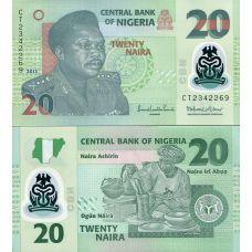Nigeria 2013 20 Naira P34 UNC