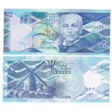 Barbados 2013 2 Dollars P73 UNC