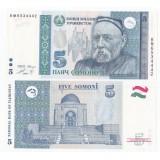 Tajikistan 2013 5 Somoni P15 UNC