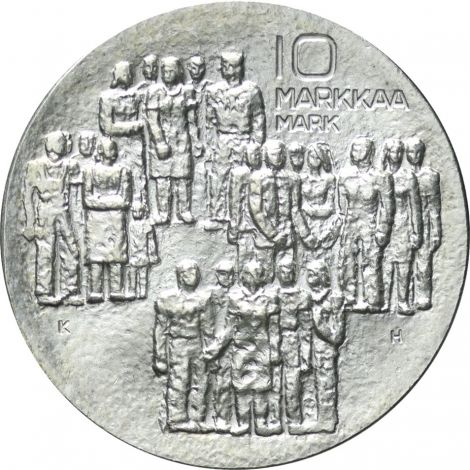 Suomi 1977 10 Markkaa Itsenäisyys 60v BU