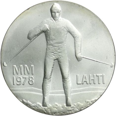 Suomi 1978 25 Markkaa MM hiihdot BU