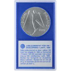 Suomi 1989 100 Markkaa Lahden MM-hiihdot BU