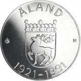 Suomi 1991 100 Markkaa Ahvenanmaan itsehallinto 70 vuotta HOPEA BU