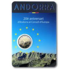 Andorra 2014 2 € 20 vuotta Euroopan neuvostossa BU