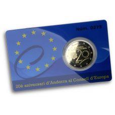 Andorra 2014 2 € 20 vuotta Euroopan neuvostossa PROOF