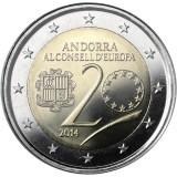 Andorra 2014 2 € 20 vuotta Euroopan neuvostossa UNC