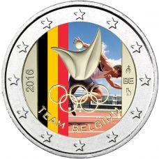 Belgia 2016 2 € Olympialaiset Riossa VÄRITETTY