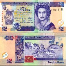 Belize 2014 2 Dollars P66e UNC