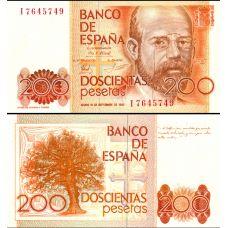 Espanja 1980 200 Pesetas P156 UNC