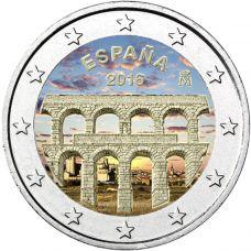 Espanja 2016 2 € Segovia VÄRITETTY