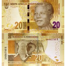 Etelä-Afrikka 2013 20 Rand P139 UNC