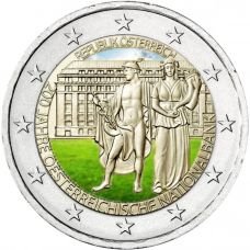 Itävalta 2016 2 € Itävallan keskuspankki 200v VÄRITETTY