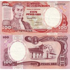 Kolumbia 1991 100 Pesos P426 UNC