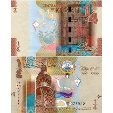 Kuwait 2014 1/4 Dinar P29 UNC