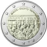 """Malta 2012 2 € Majority Representation 1887 """"Y"""" BU"""