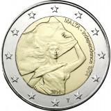 """Malta 2014 2 € Itsenäisyys 1964 """"Y"""" BU"""