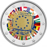 Ranska 2015 2 € EU:n lippu 30v VÄRITETTY