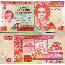 Belize 2011 5 Dollars P67e UNC