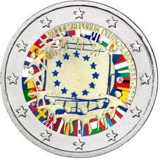 Saksa 2015 2 € EU:n lippu 30v A VÄRITETTY