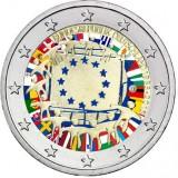 Saksa 2015 2 € EU:n lippu 30v D VÄRITETTY