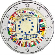 Saksa 2015 2 € EU:n lippu 30v F VÄRITETTY