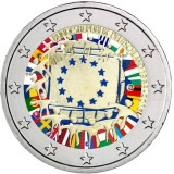 Saksa 2015 2 € EU:n lippu 30v G VÄRITETTY