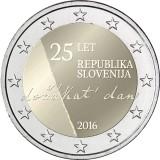 Slovenia 2016 2 € Itsenäisyys 25 vuotta UNC