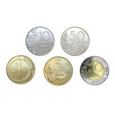 Suomi 1992-2001 10 Penniä - 10 Markkaa Irtokolikot