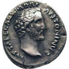 Rooman valtakunta 138 - 161 Denar VF HOPEA