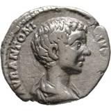 Rooman valtakunta 196-198 AD Denar VF HOPEA