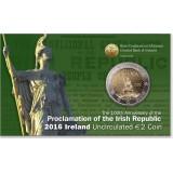 Irlanti 2016 2 € Pääsiäiskapina 100v COINCARD