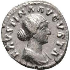 Rooman valtakunta 147-176  Faustina II Dinaari HOPEA