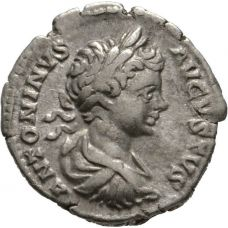 Rooman valtakunta 198-217 AD Denarius VF HOPEA