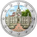 Saksa 2016 2 € Sachsen VÄRITETTY