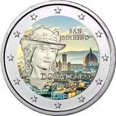 San Marino 2016 2 € Donatello VÄRITETTY