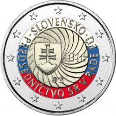 Slovakia 2016 2 € EU-puheenjohtajuus VÄRITETTY